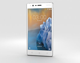 3D model of Nokia 3 Silver White
