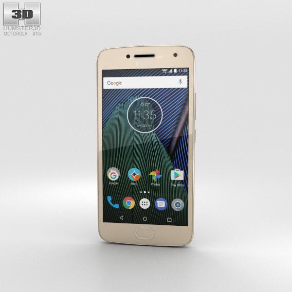 Motorola Moto G5 Plus Fine Gold 3D model