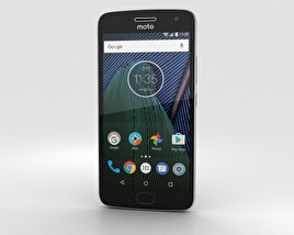 3D model of Motorola Moto G5 Plus Lunar Grey
