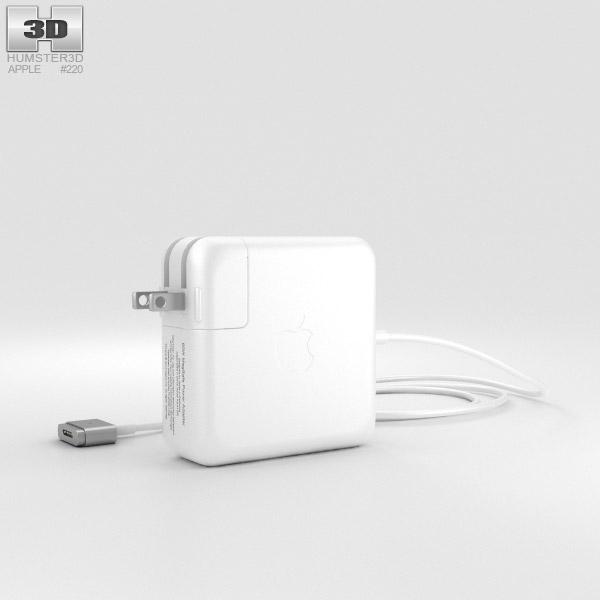 Apple 60W MagSafe 2 Power Adapter 3D model