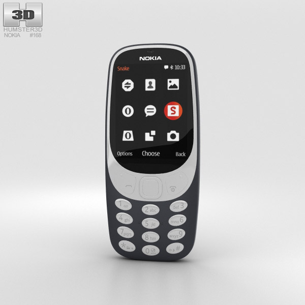 Nokia 3310 (2017) Dark Blue 3D model