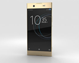 3D model of Sony Xperia XA1 Ultra Gold
