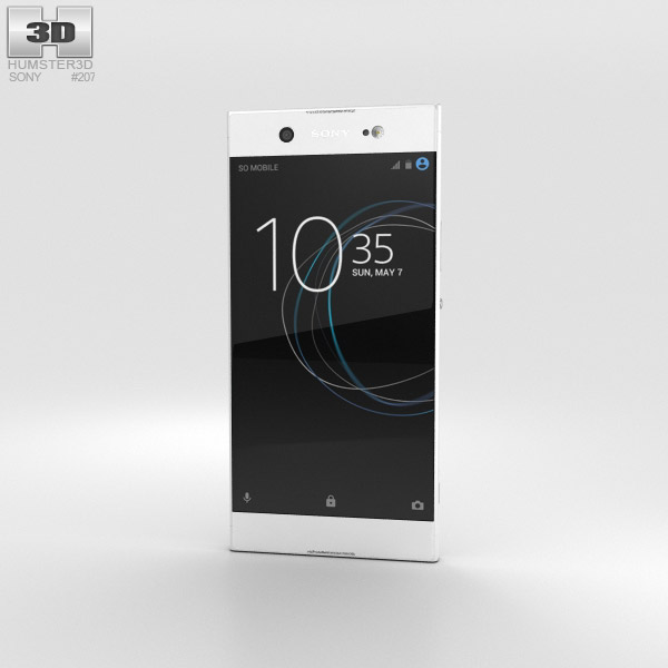 Sony Xperia XA1 Ultra White 3D model