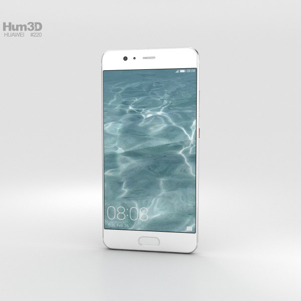 Huawei P10 Plus Mystic Silver 3D model