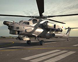 3D model of Mil Mi-28