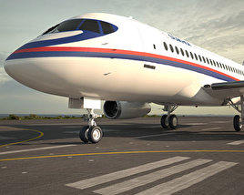 3D model of Sukhoi Superjet 100