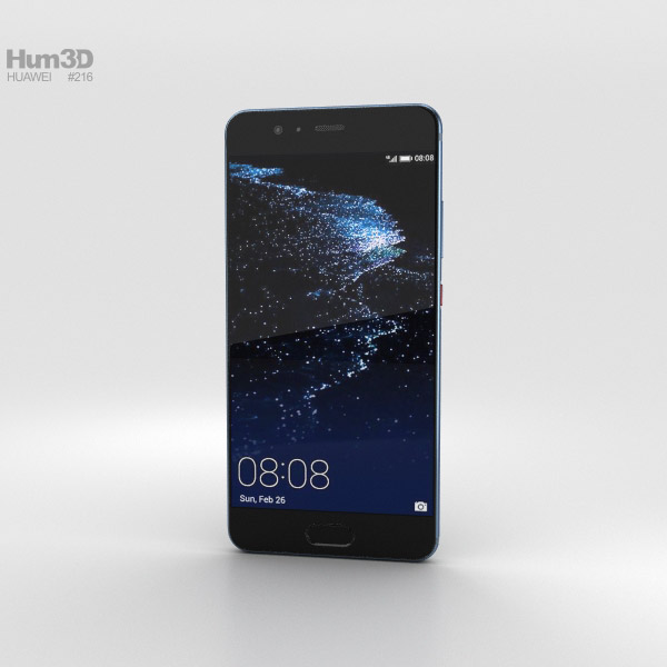 Huawei P10 Plus Dazzling Blue 3D model
