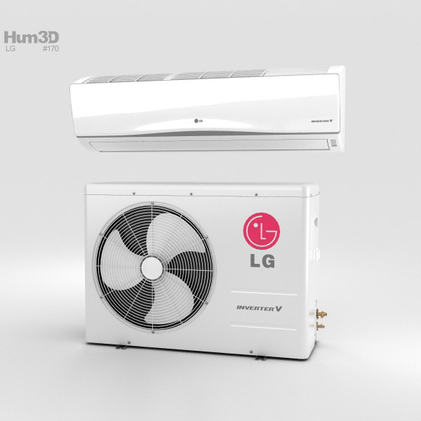 LG Air Conditioner 3D model
