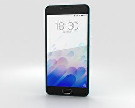 Meizu M3 Blue 3D model