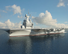 3D model of Charles de Gaulle aircraft carrier
