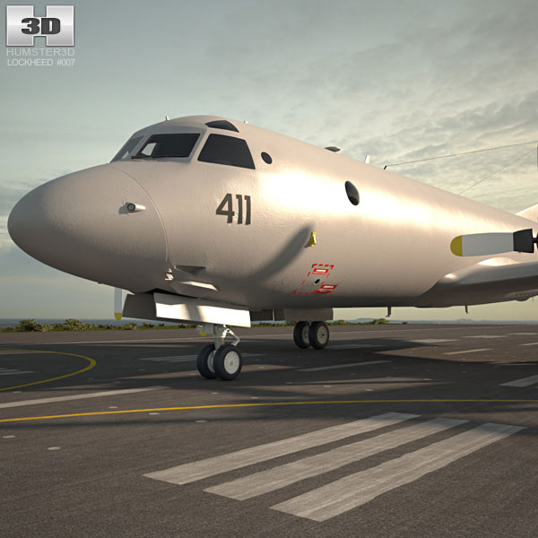 3D model of Lockheed P-3 Orion