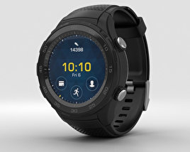Huawei Watch 2 Carbon Black 3D model