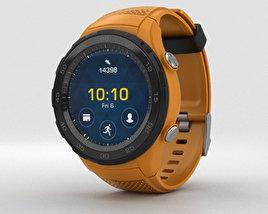 Huawei Watch 2 Dynamic Orange 3D model
