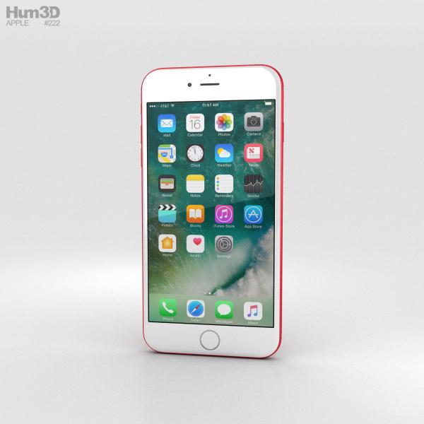 Apple iPhone 7 Plus Red 3D model