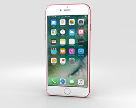 3D model of Apple iPhone 7 Red