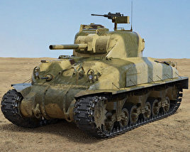 3D model of M4A1 Sherman