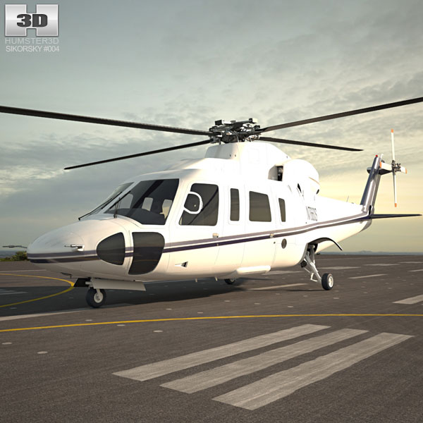 3D model of Sikorsky S-76