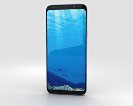 3D model of Samsung Galaxy S8 Coral Blue