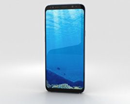 3D model of Samsung Galaxy S8 Plus Coral Blue