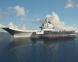 3D model of Admiral Kuznetsov aircraft carrier