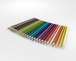 3D model of Colored Pencils