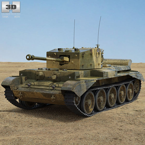 Cromwell tank 3D model