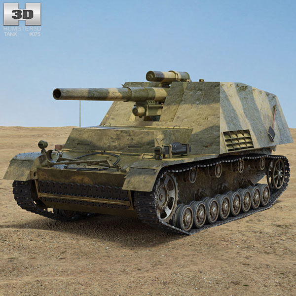 Hummel Self-propelled Gun 3D model