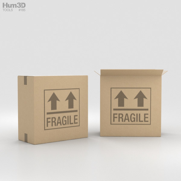 3D model of Cardboard Box