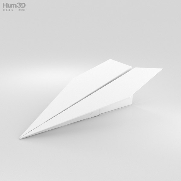 紙飛行機 3Dモデル