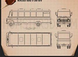 Mercedes-Benz O-309 1979 Blueprint