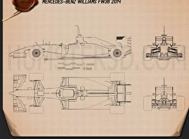 Williams FW36 2014 Blueprint