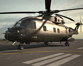 3D model of AgustaWestland AW101 Merlin