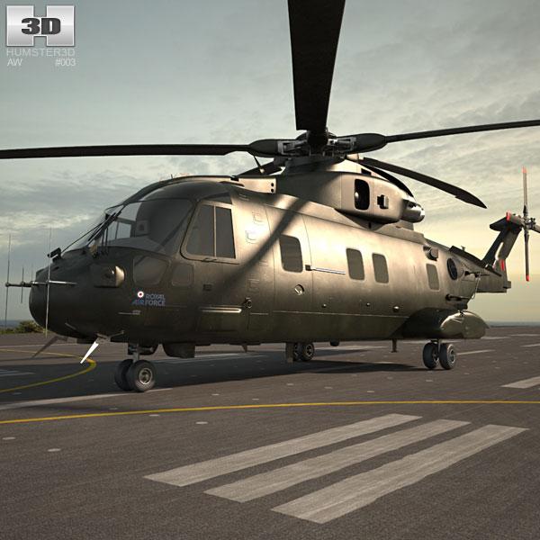 3D model of AgustaWestland AW101 Merlin