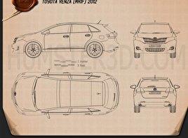 Toyota Venza 2012 Blueprint