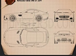 Mercedes-Benz AMG GT 2014 Blueprint