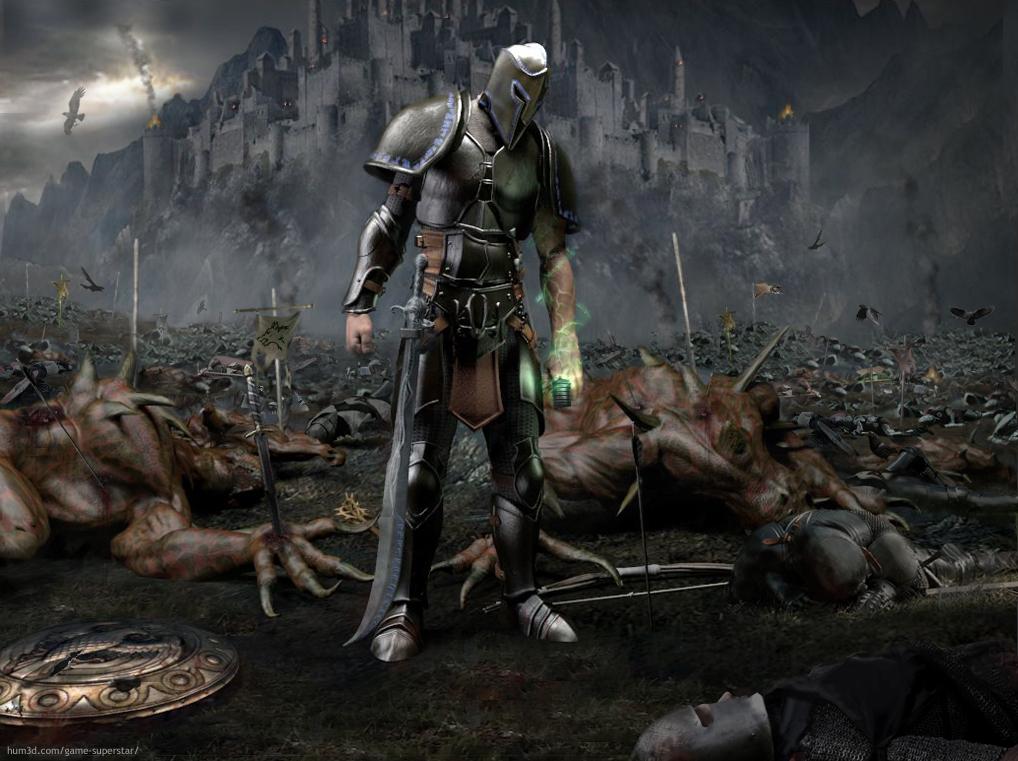 After the battle 3d art