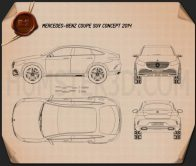 Mercedes-Benz Coupe SUV 2014 Blueprint