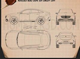 Mercedes-Benz Coupe SUV 2014 Blueprint