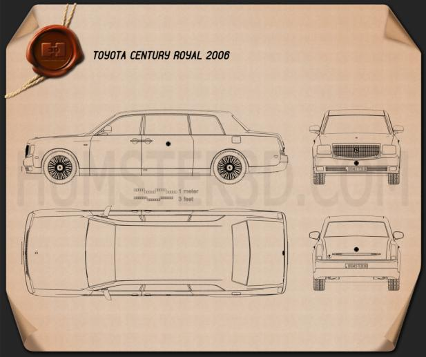 Toyota Century Royal 2006 Blueprint