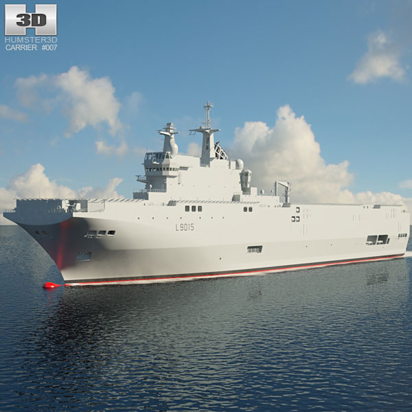 Dixmude aircraft carrier 3D model