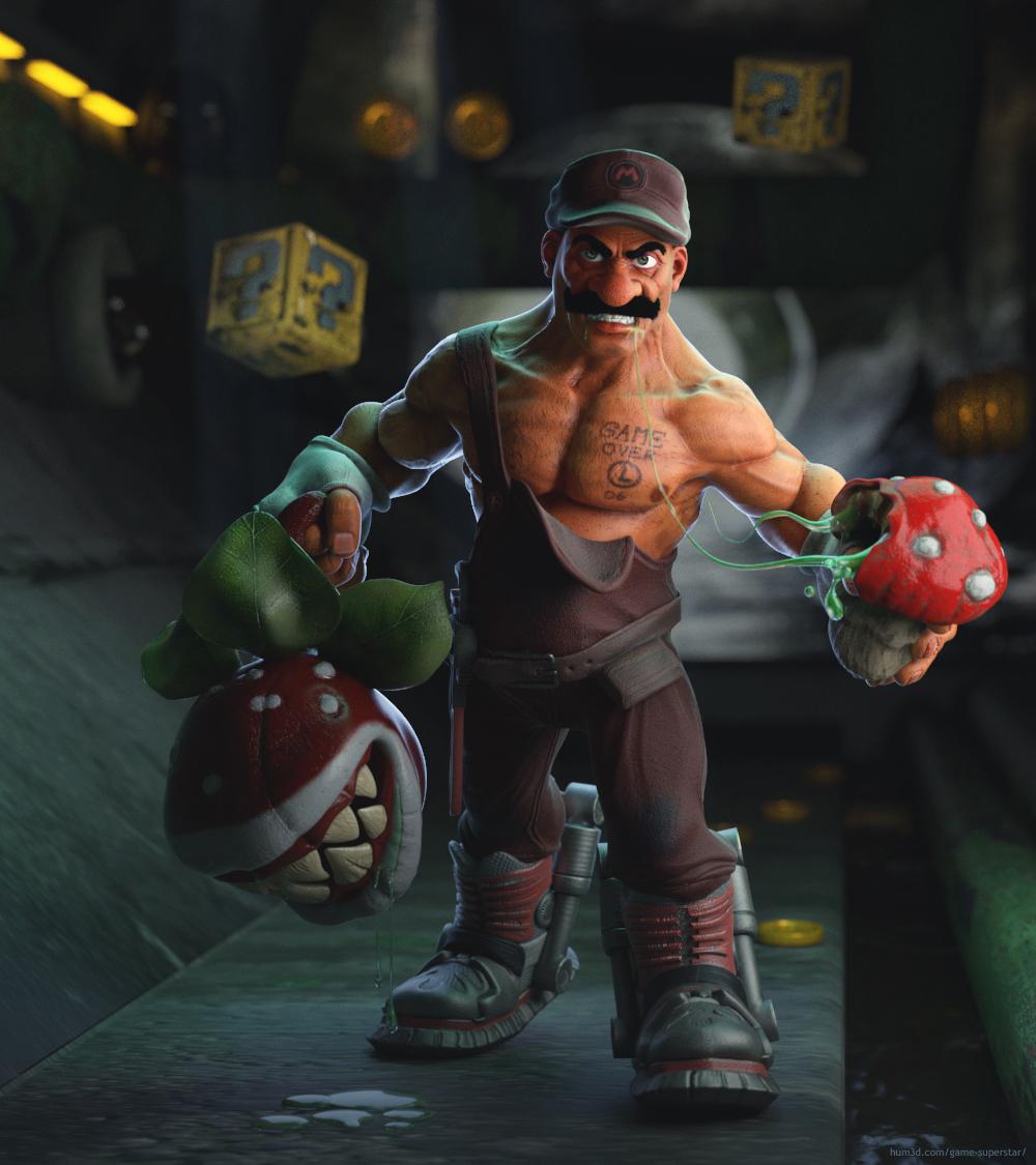 Incredible Mario 3d art
