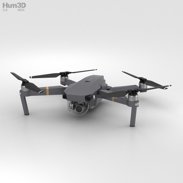 3D model of DJI Mavic Pro