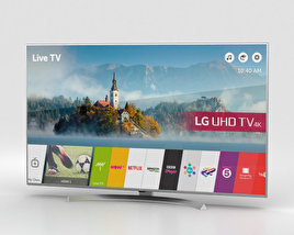 "3D model of LG 55"" ULTRA HD 4K TV 55UJ701V"