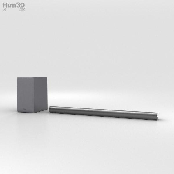 LG SJ6 Soundbar 3D model