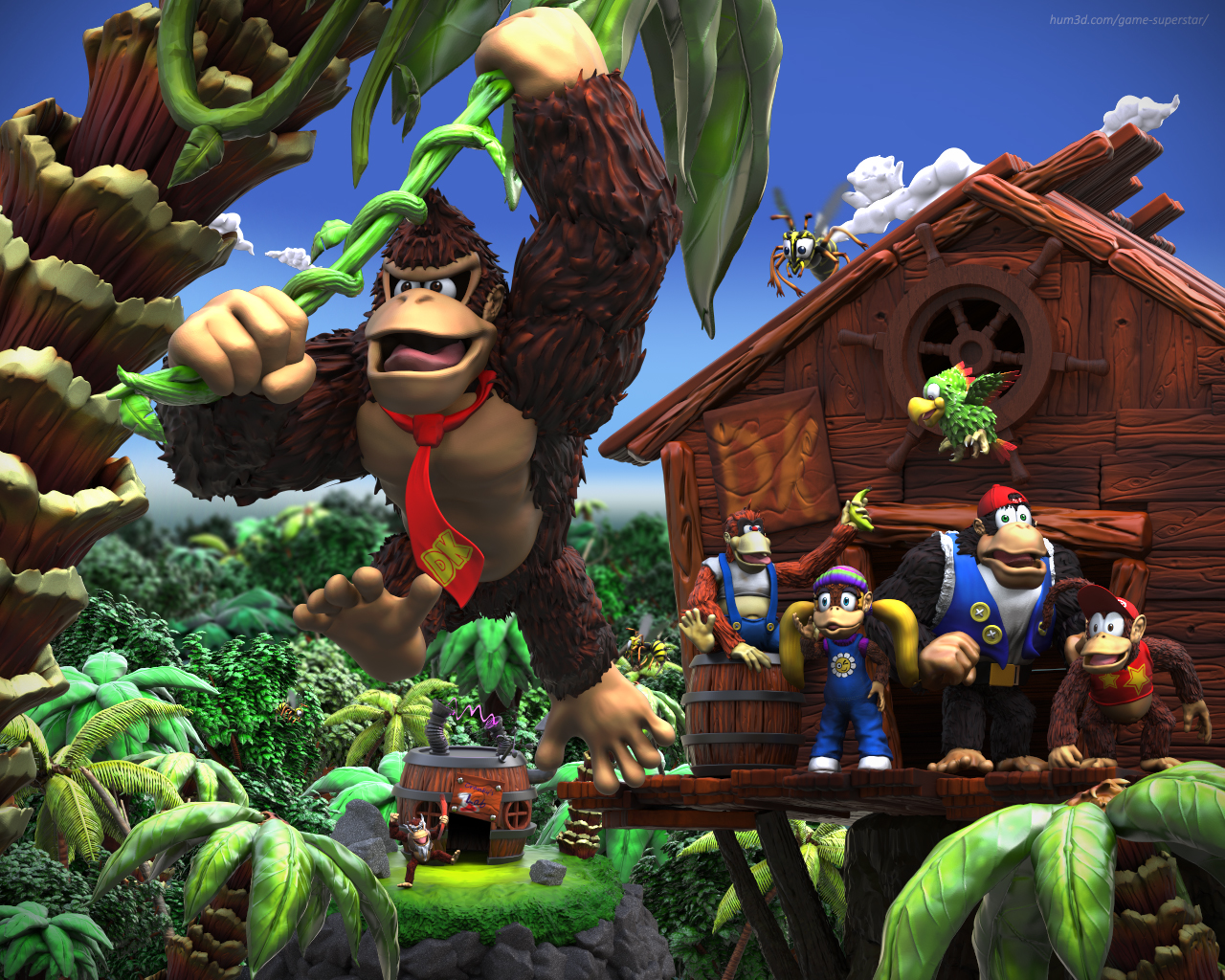 Another day for the DK Crew 3d art