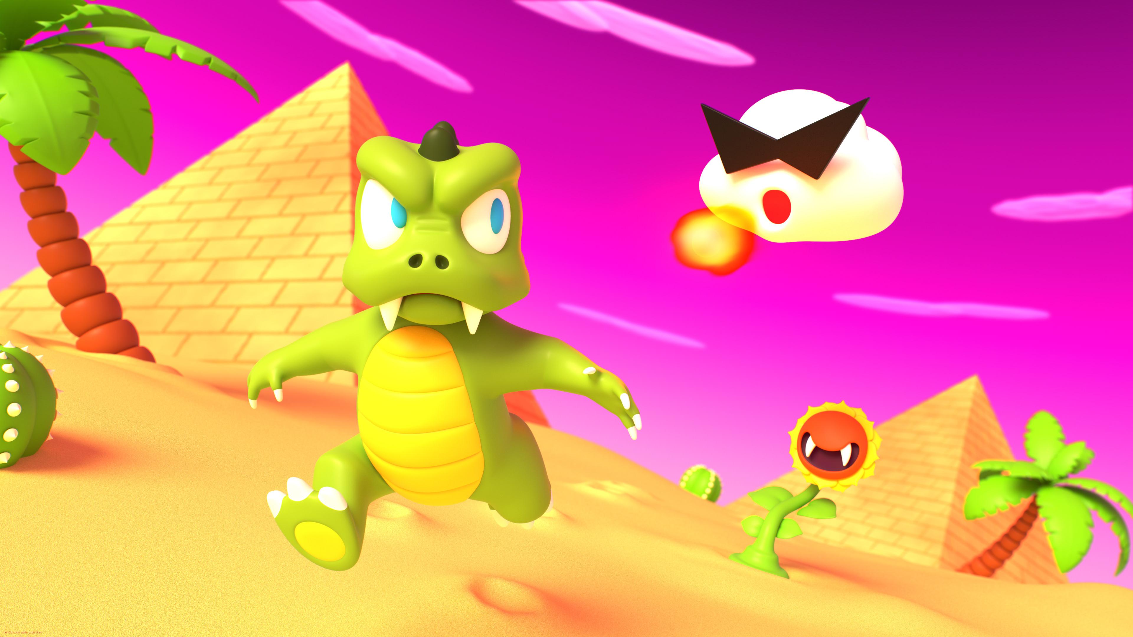 Lizard Man's Desert Romp 3d art