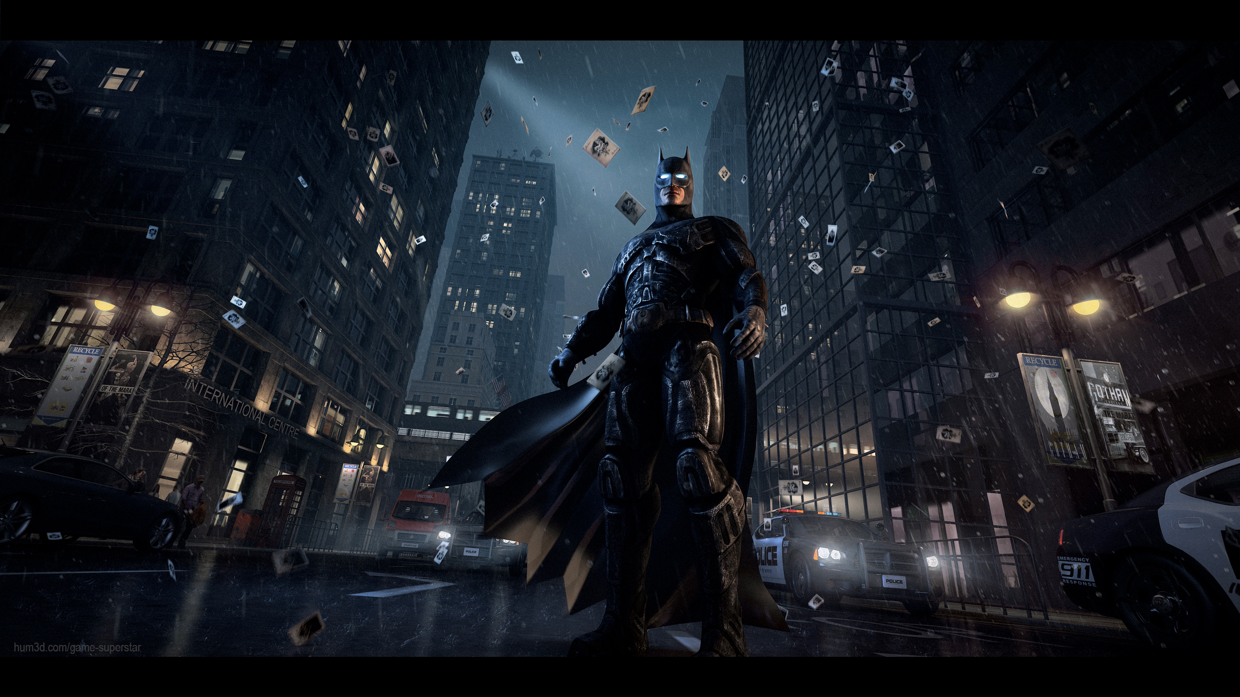 Batman: Arkham 3d art
