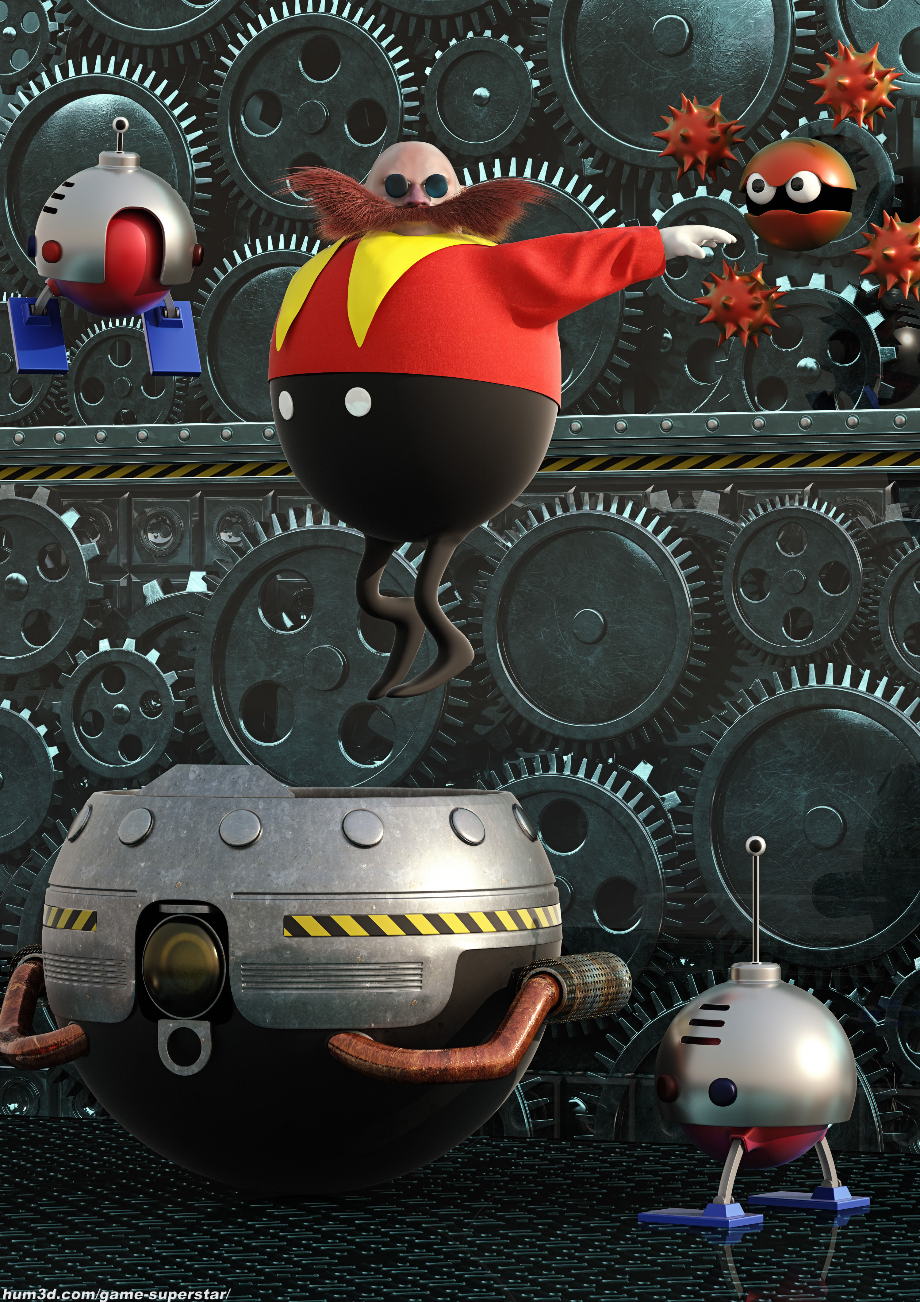 Dr. Robotnik's Escape 3d art