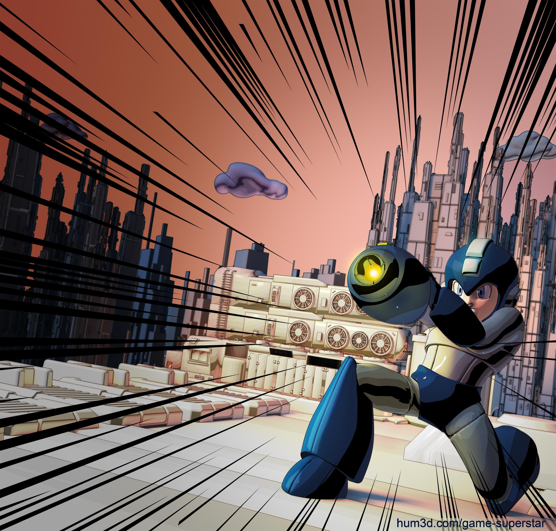 Megaman - The Ultimate Shot 3d art