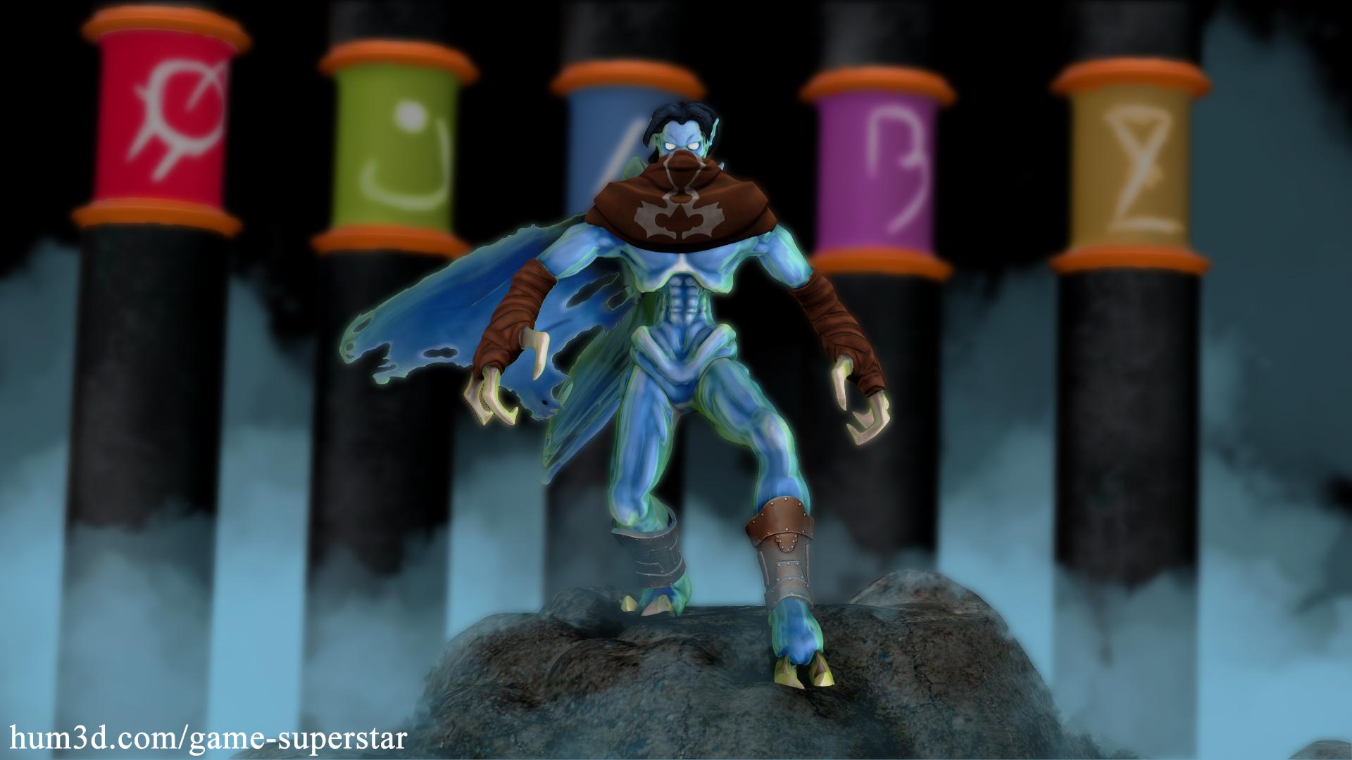 Soul Reaver Raziel 3d art